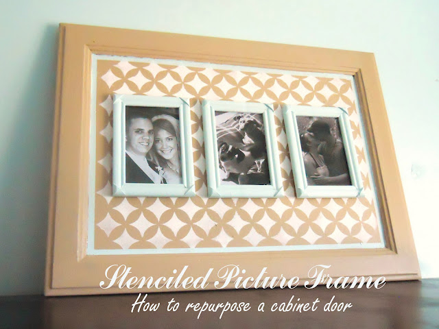 How To Repurpose An Old Cabinet Door Stenciled Picture