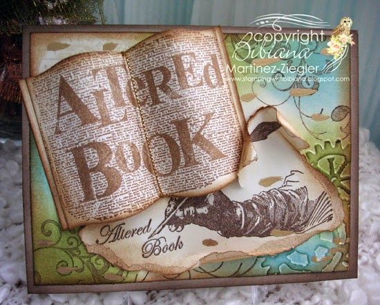 front vintage teared altered book