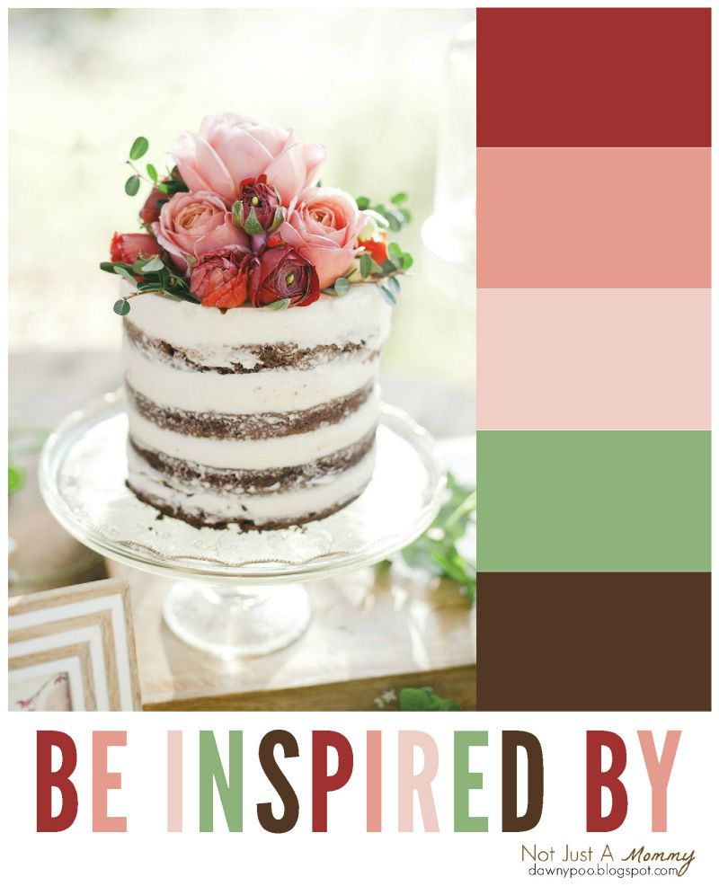 Be inspired by the colors of this Marsala floral cake