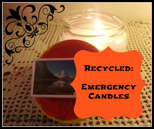 Recycled emergency candles diy