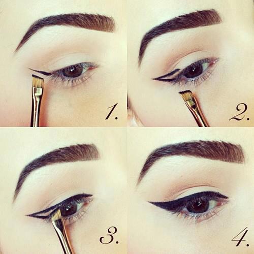 Jess 39 make up comment r aliser un trait d 39 eye liner parfait - Comment faire un trait d eye liner ...