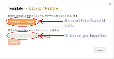 Backup Restore New Blogger Interface