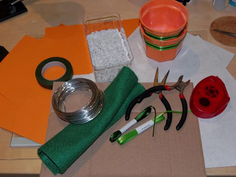 DIY Menükarte Material
