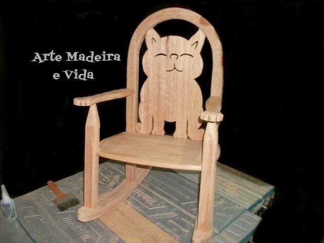 cadeira balanço madeira