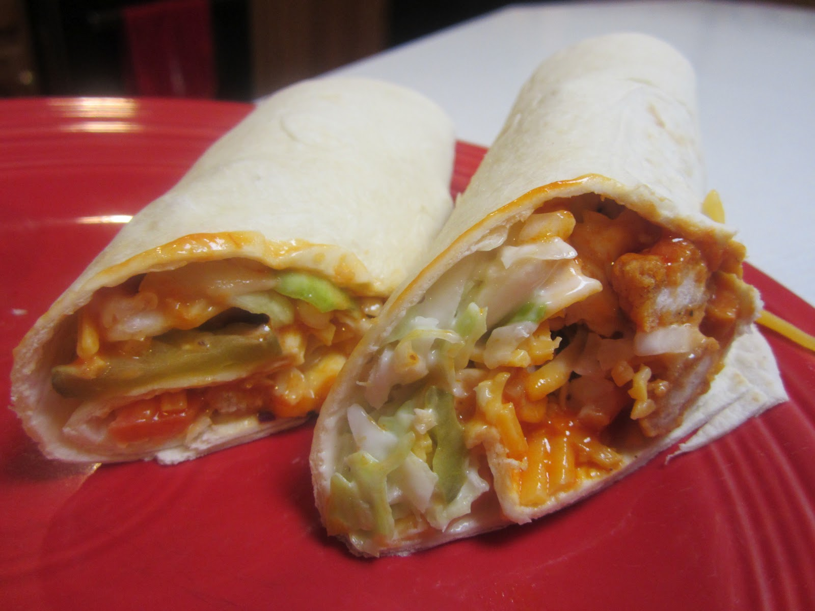 From Sarah's Kitchen to Yours: Buffalo Chicken Wraps