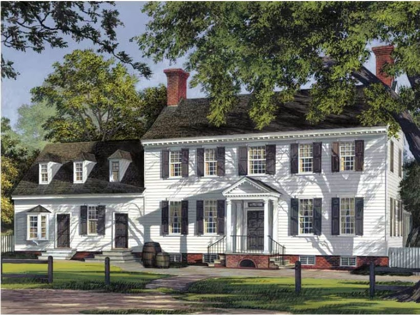 Georgian colonial house style ayanahouse for Colonial style homes floor plans