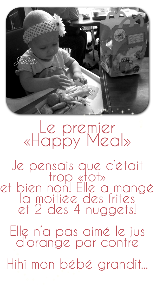 First happy meal - Que mange les punaises ...
