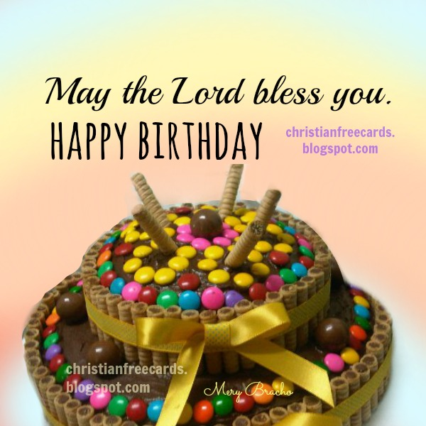 free card happy birthday christian card image