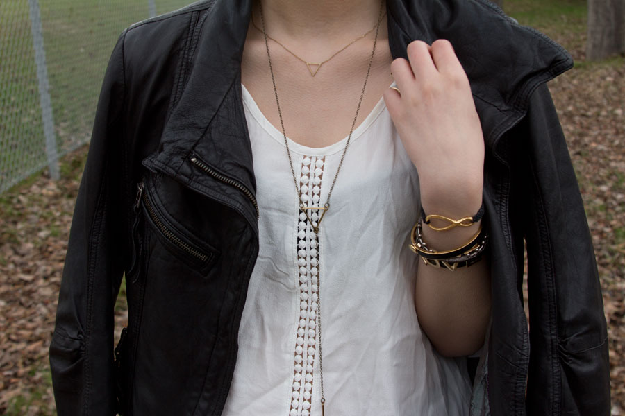 BCBGENERATION, J Brand, Spring Fashion, Nasty Gal, Juicy Couture, ASOS, leather jacket, grey jeans, Danier