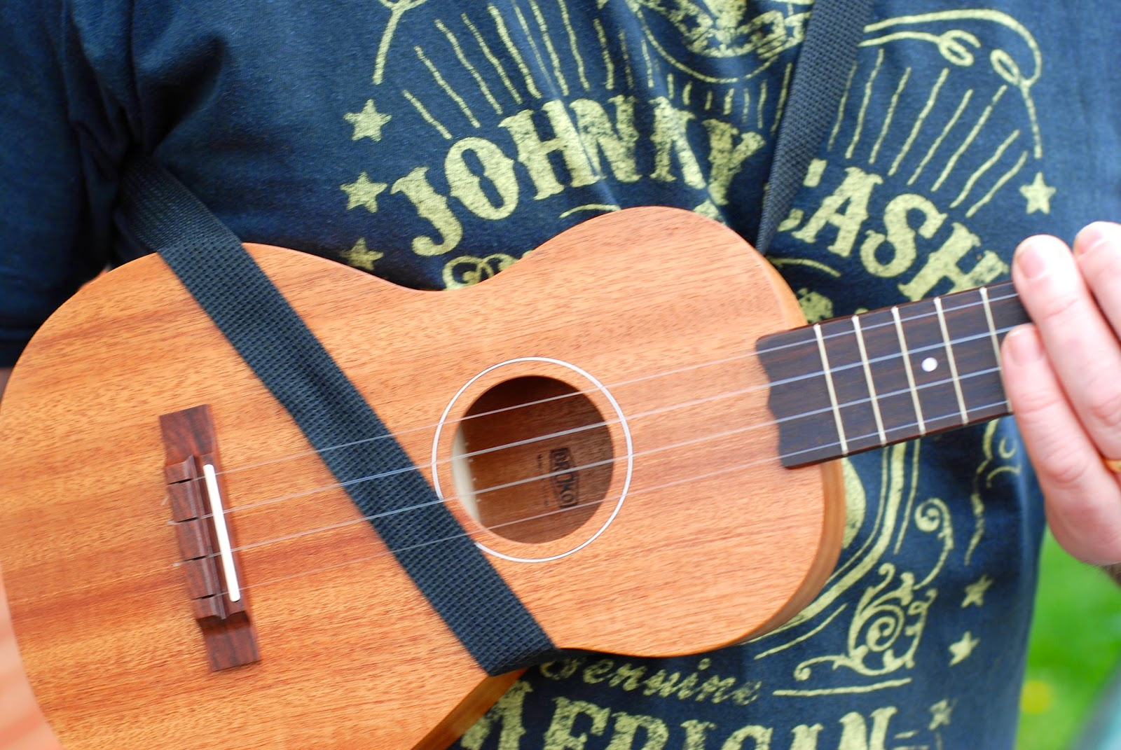 Mobius Ukulele Strap in use