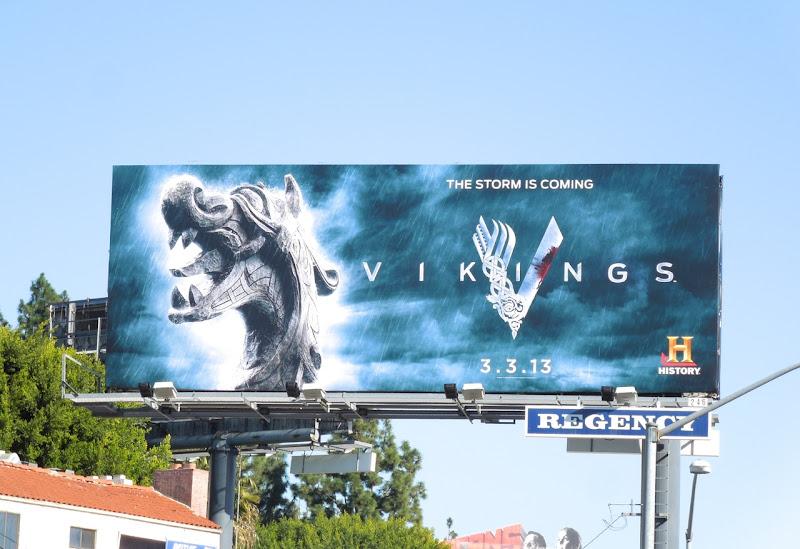 Vikings series premiere teaser billboard