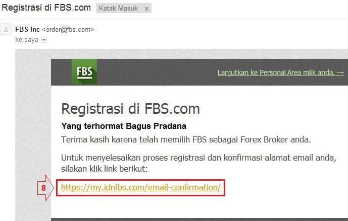 Cara daftar akun forex fbs
