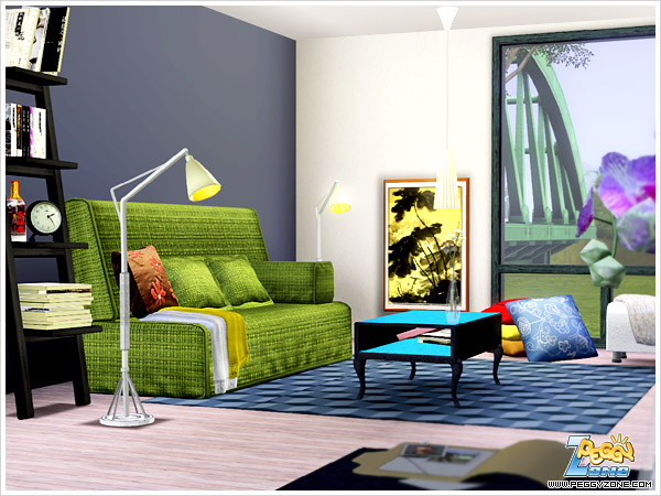 My sims 3 blog new living room set by peggy for Living room ideas sims 3