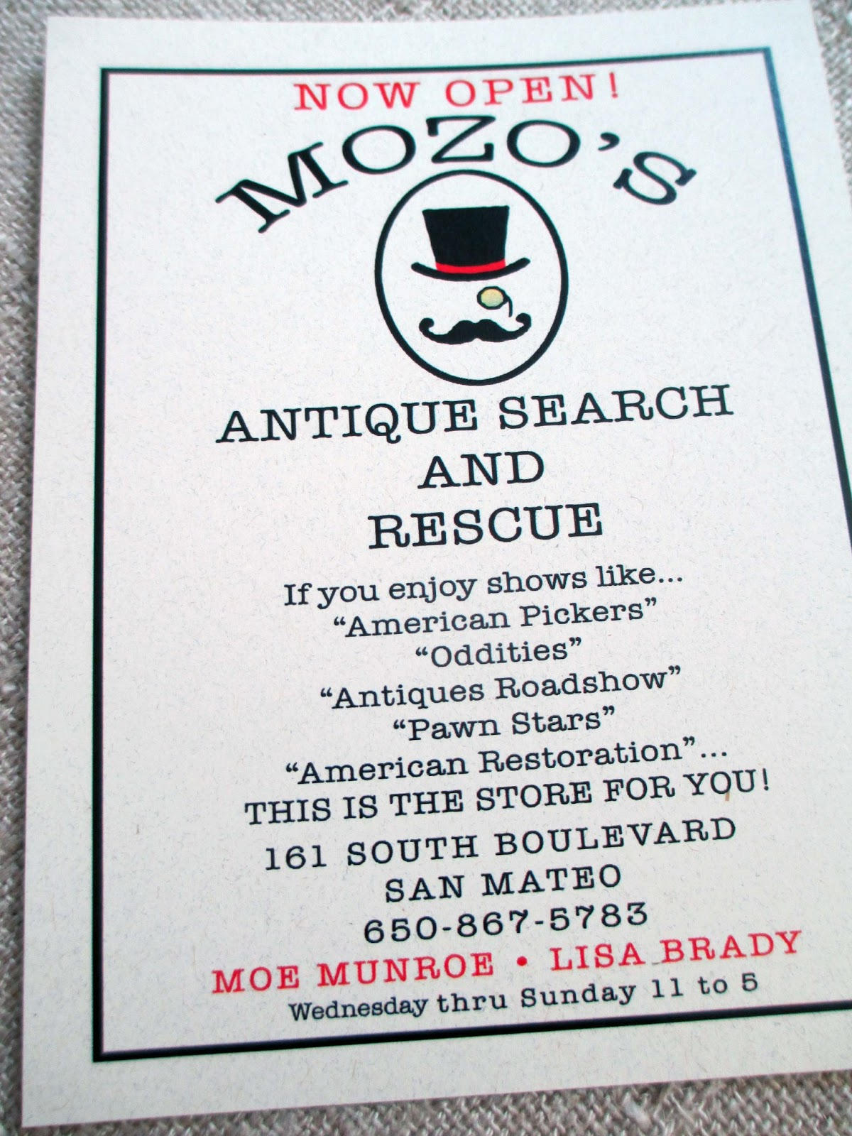 The French Circus: Mozo\'s Antique Search and Rescue