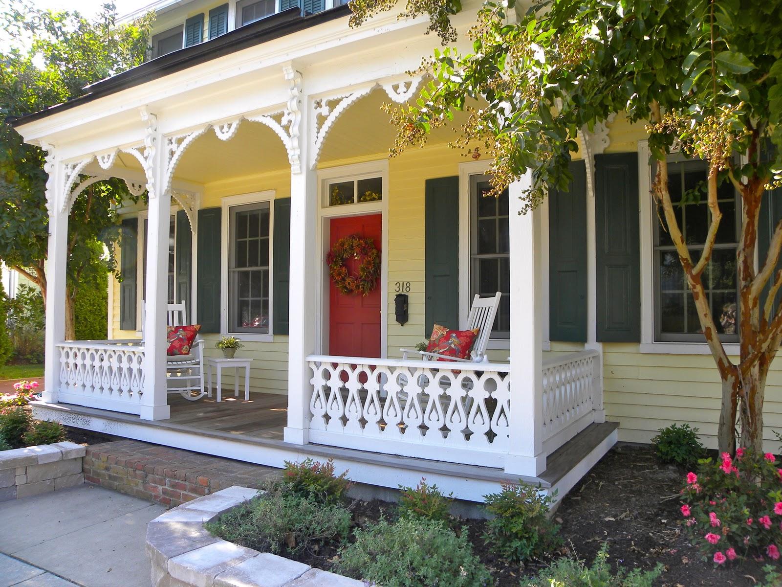 Yellow siding essex green shutters red door dark gray for White house green trim