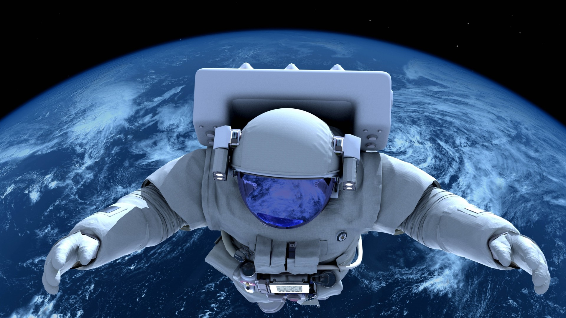 Astronauta en el espacio full hd en fondos 1080 for Espacio exterior 4k
