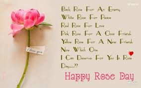 Happy Rose Day Messages in English