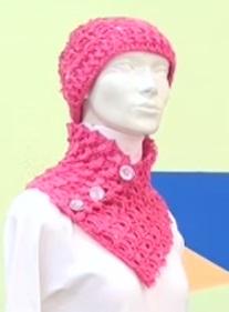 c1e3a212fe067 As Receitas de Crochê  Gorro e Gola Milena em crochê peruano