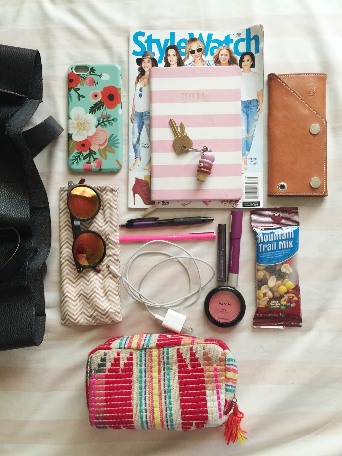 black handbag, fashion blogger, forever 21, iphone 6, portland blogger, Revlon, the ptown girls, what's in my bag, fblogger
