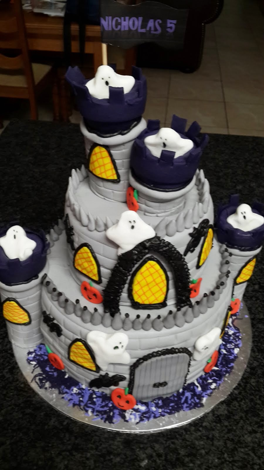 Ghost Castle Cake