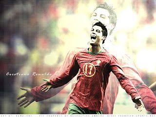 euro 2012 wallpaper player : christiano Ronaldo