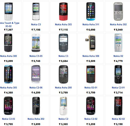 Mobile phones in india with prices and features