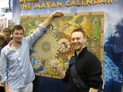 Essen Spiel 2012 Day 3 - My Belgian companions for the game of Tzolk'in
