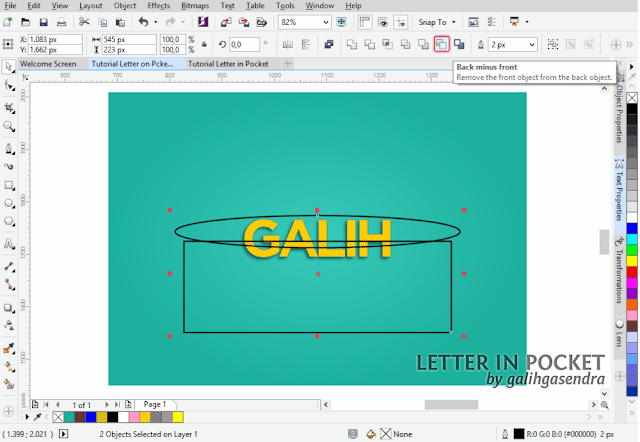 CorelDRAW Tutorial Text Effect
