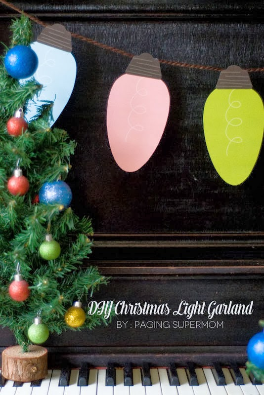 The Party Hop: A Handmade Holiday Christmas light garland