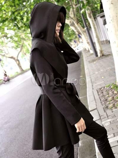 Beautiful V-Neck Long Sleeves Woman's Hoodied Outerwear