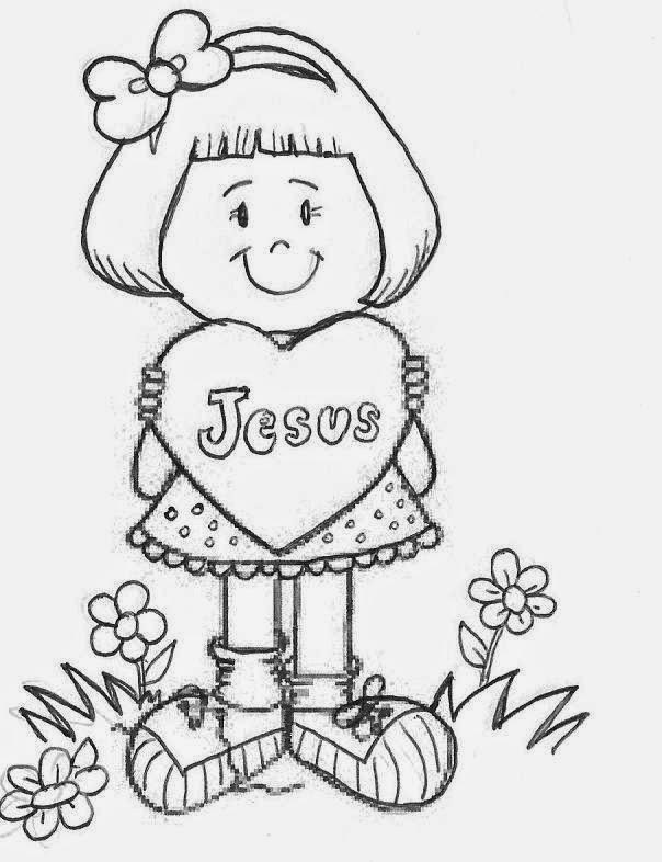 Conhecido Evangeliza!: Menina para colorir, desenho evangélico para colorir QR02
