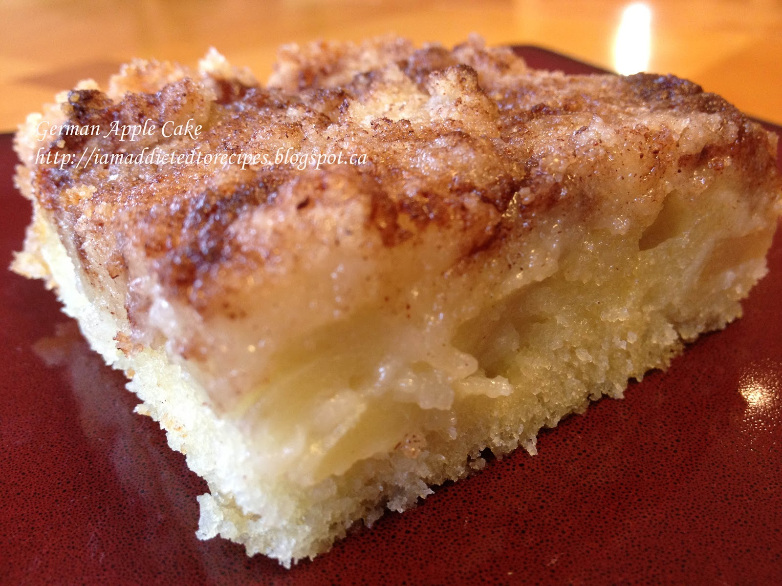German Apple Cake | Addicted to Recipes