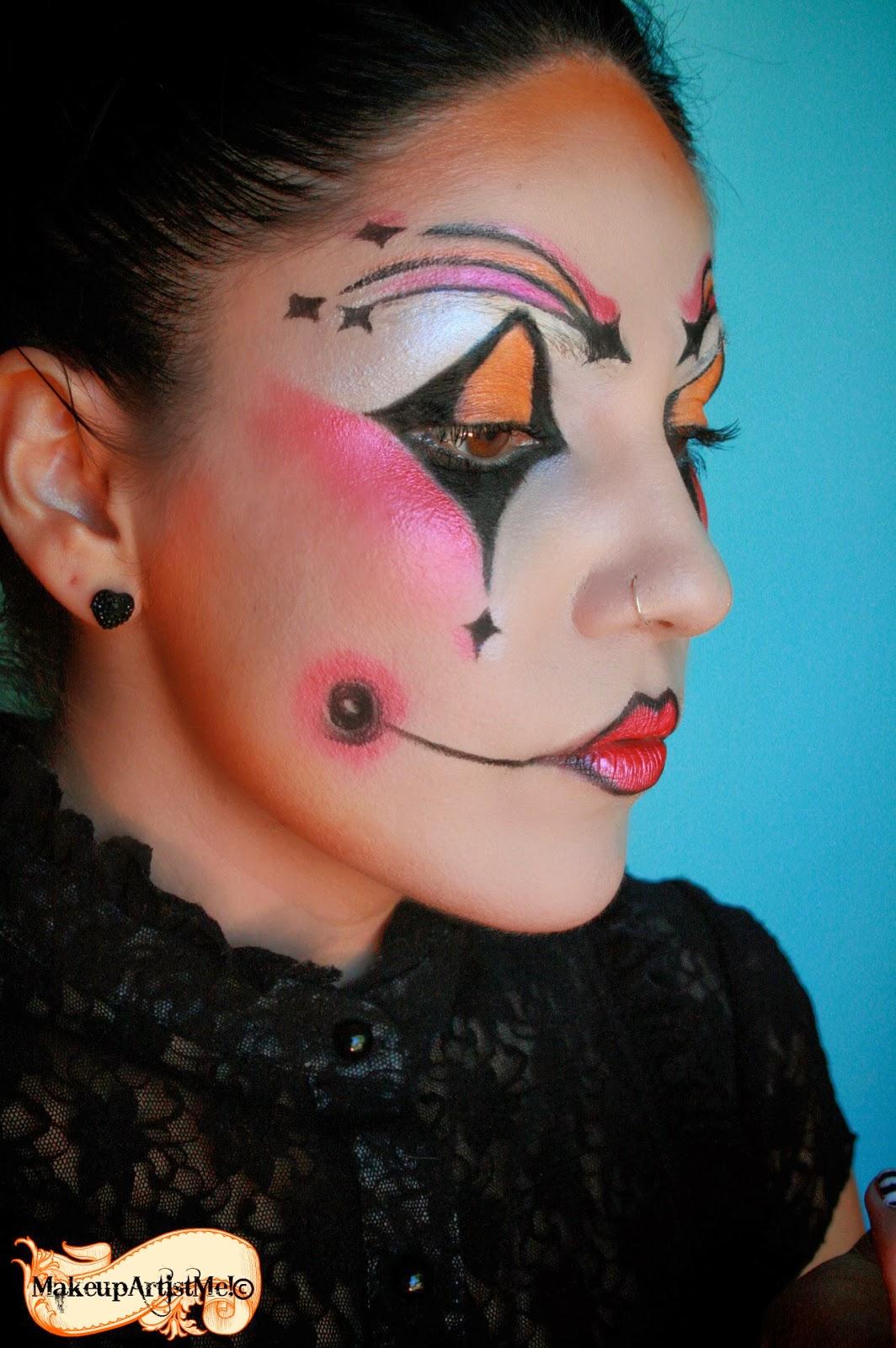 Make Up Artist Me Harlequin Costume Makeup 3 Part Tutorial
