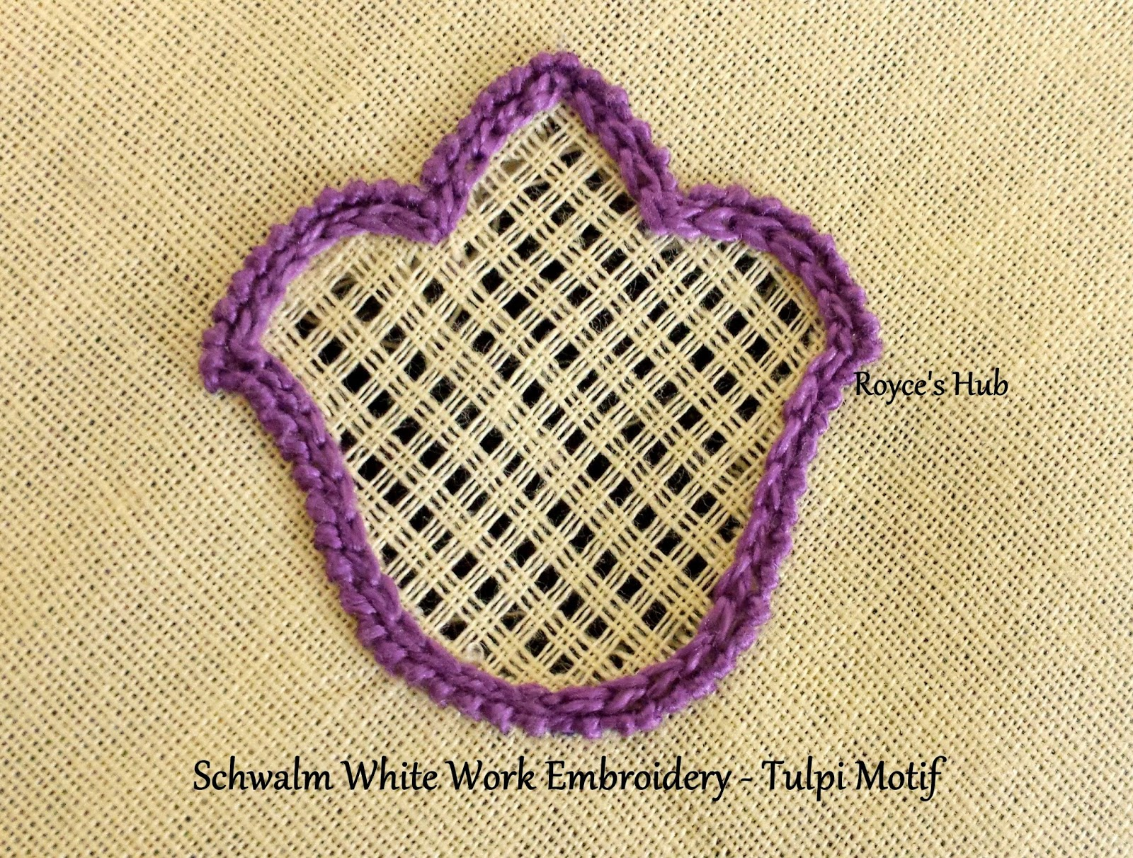 Royces Hub Schwalm Embroidery Tulip Motif And The Basic Filling