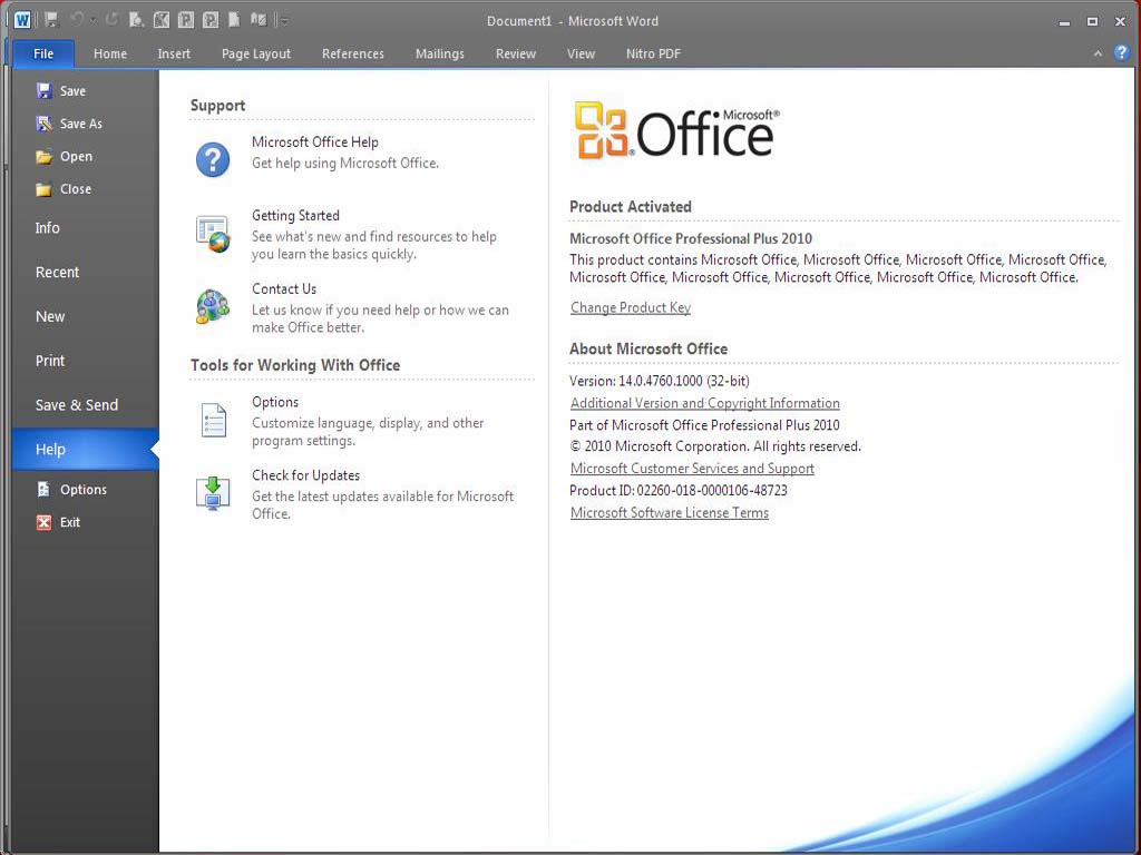 microsoft office 2010 activation keygen