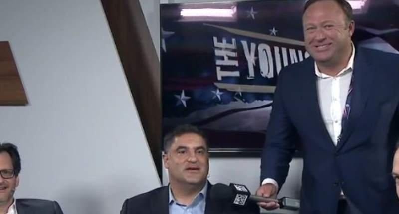 Alex Jones and Cenk Uyger