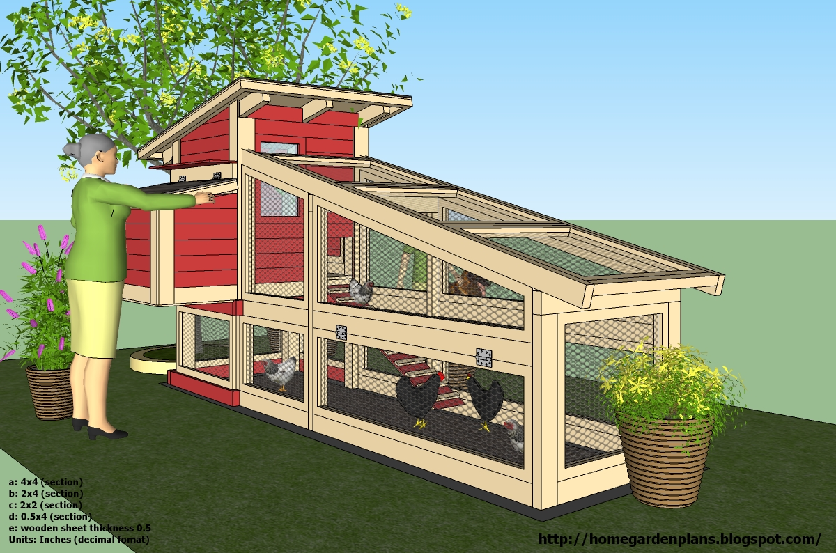Home garden plans s100 chicken coop plans construction Home run architecture