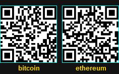 Code QR - bitcoins / ethereum
