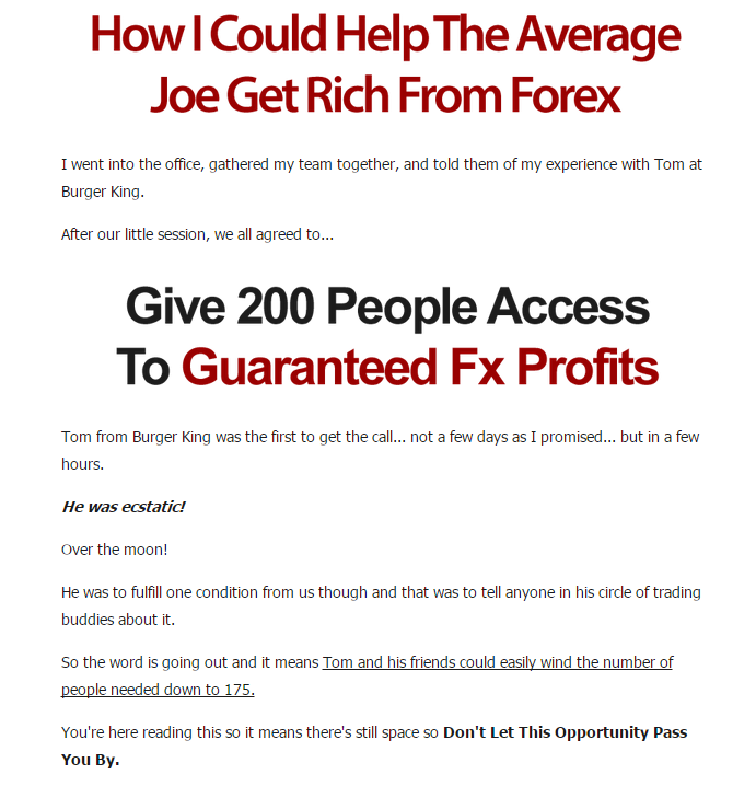 Guaranteed forex profits