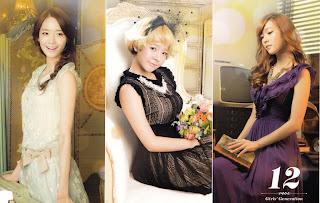 SNSD Yoona Sunny Jessica Desk Calendar 2013