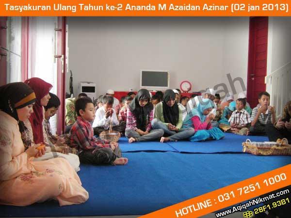 Tasyakuran Ulang Tahun Ananda M Azaidan Azinar