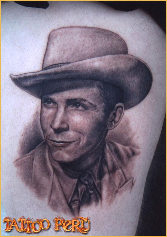 ¿En que parte del Cuerpo se puede Tatuar?. 01_retrato_de_un_vaquero