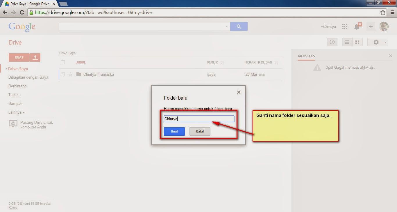 Cara Mengupload File Dan Folder Ke Internet Di Google Drive