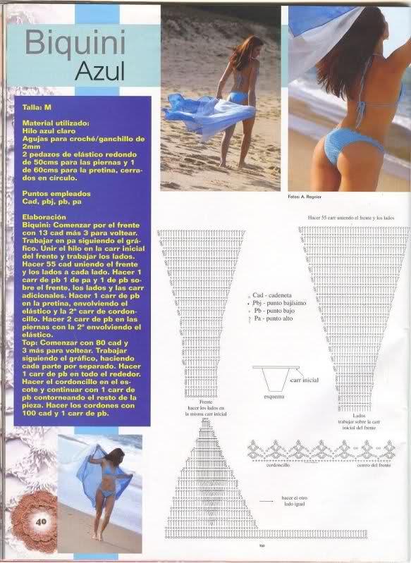 Trajes De Baño Verano Azul:12 MODELOS DE TRAJES DE BAÑO TEJIDOS A CROCHET PARA VERANO