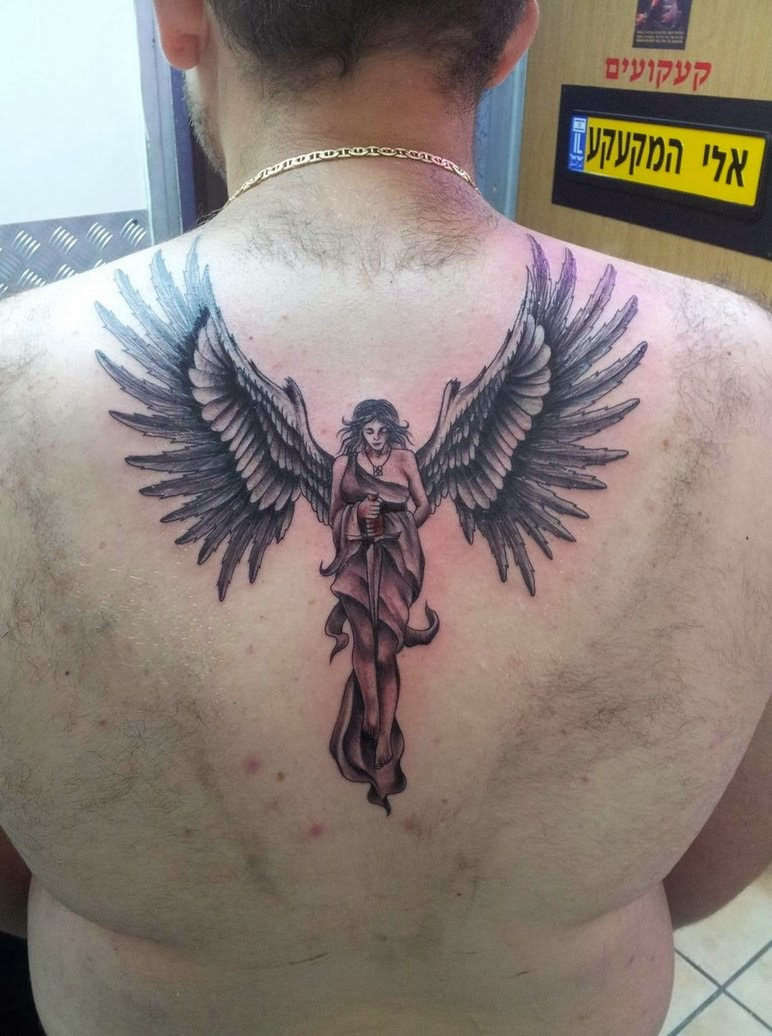 nice guardian angel tattoo art tattoos art. Black Bedroom Furniture Sets. Home Design Ideas