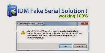 Mengatasi Error Fake Serial Number Pada IDM Terbaru