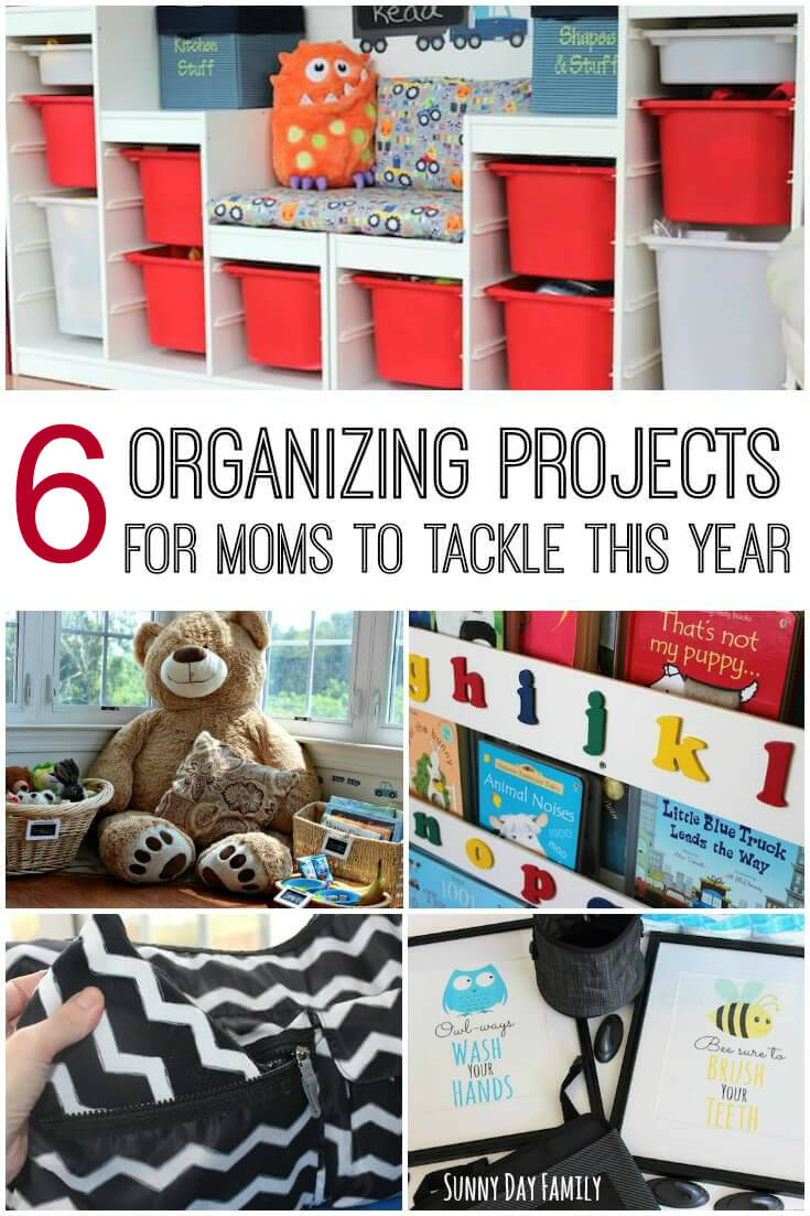 Making a New Year's resolution to be more organized? Here are 6 easy home organizing ideas for moms - these organization tips will get your home in shape. They really work!