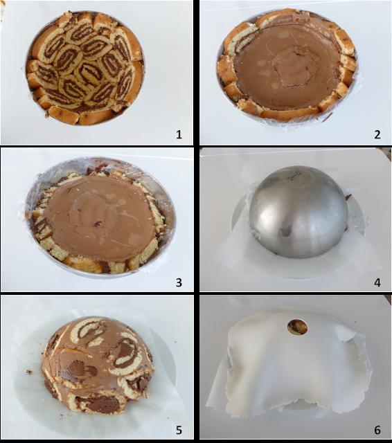 image détils recette Gâteau Princesse - roulé au Nutella et bavarois chocolat -
