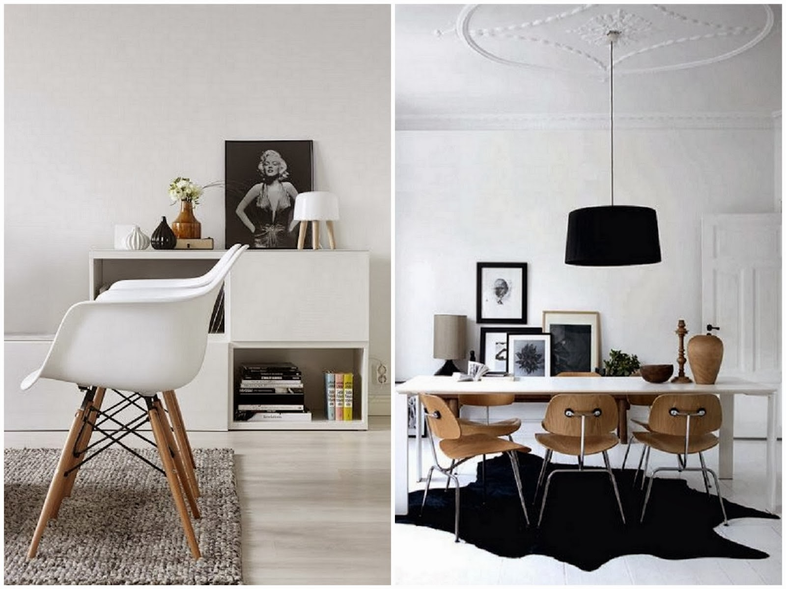 Desing the eames chairs university lifestye for Sillas para living