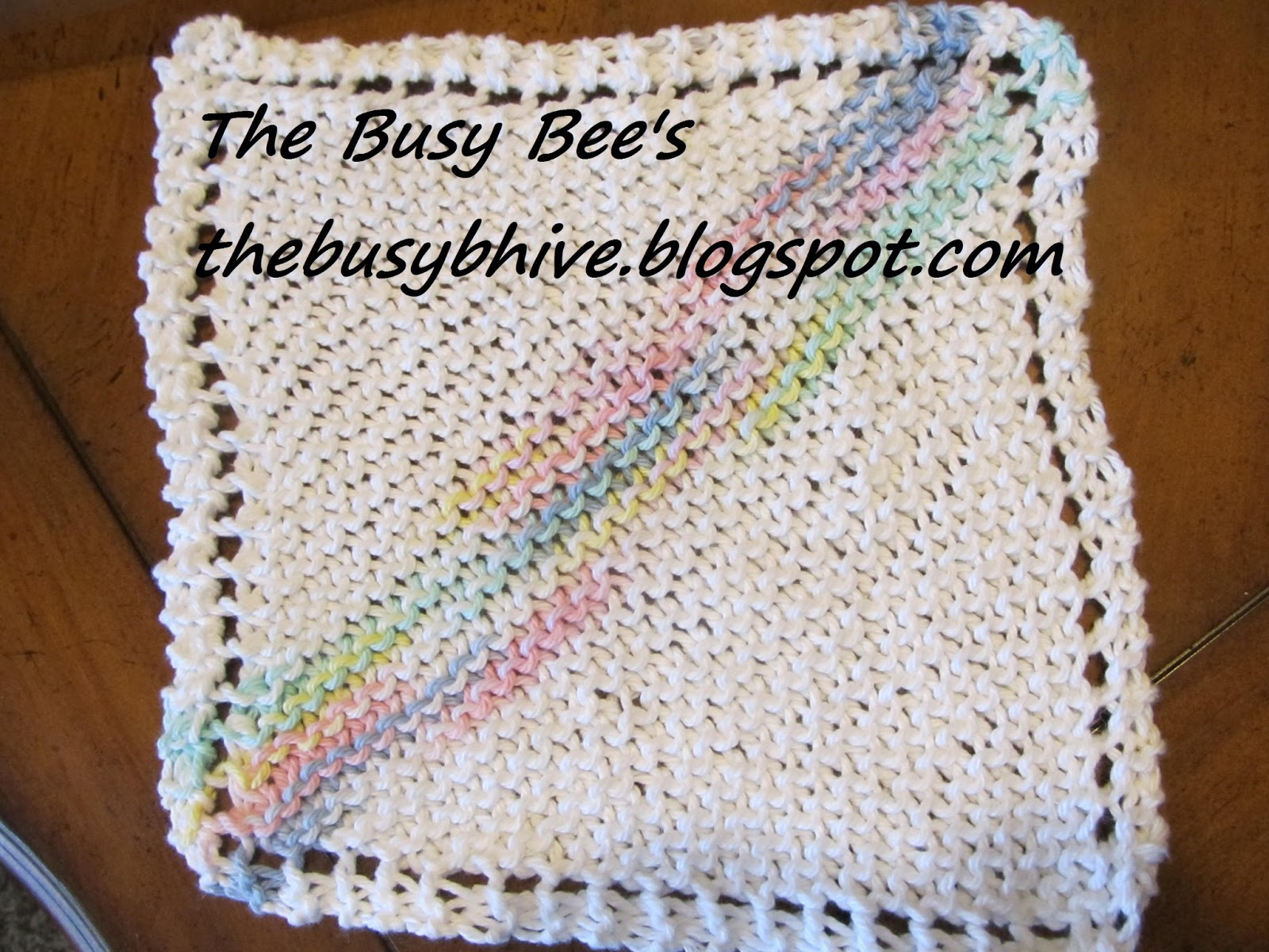 Free Dog Patterns To Knit : The Busy Bees: Knit Dishcloth Pattern